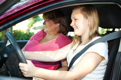 daughter driving lessons