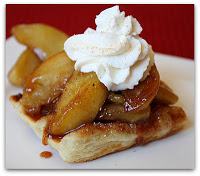 Caramelized-Apple-Waffle-Pastries-with-Cinnamon-Whipped-Cream
