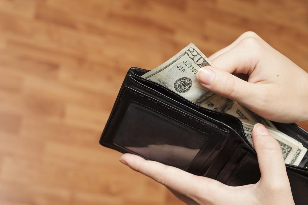 money in a wallet