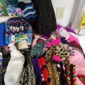 Socks, hats, scarves