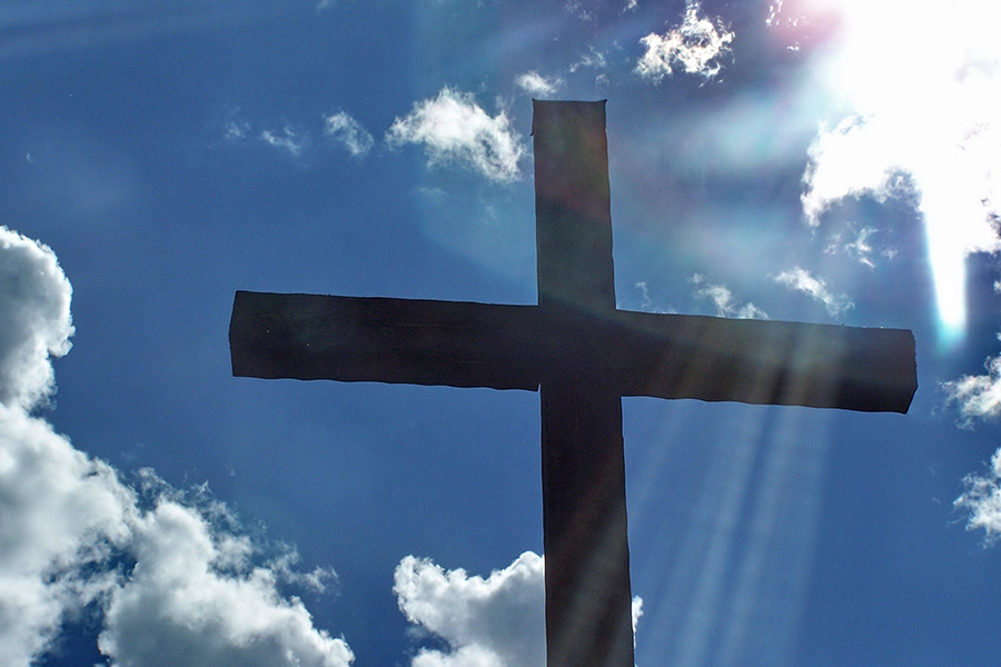 Cross in the sunlight